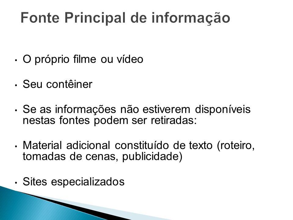Fonte Principal de informação