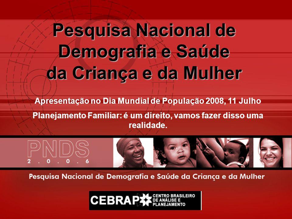 Pesquisa Nacional de Demografia e Saúde da Criança e da Mulher