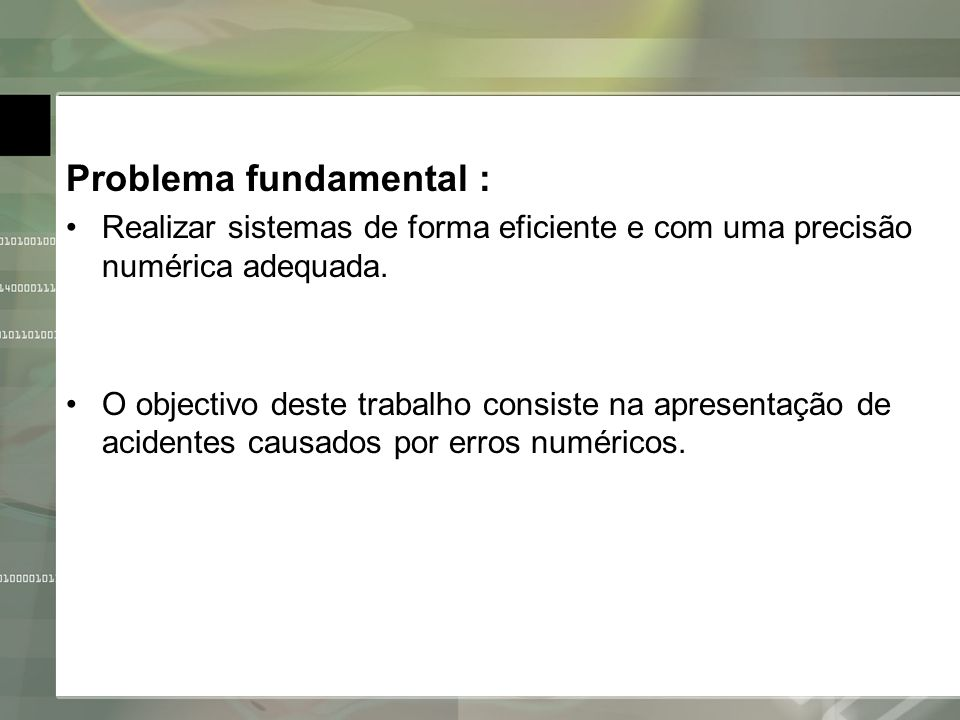 Problema fundamental :