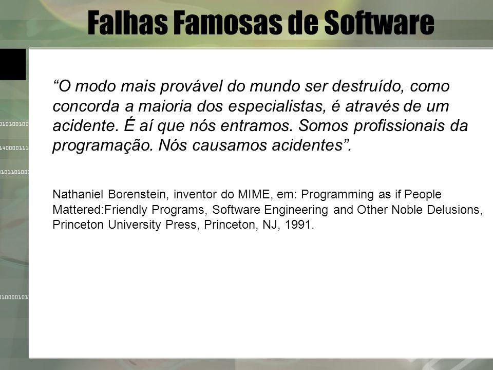 Falhas Famosas de Software