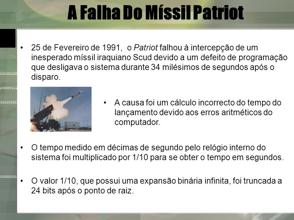 A Falha Do Míssil Patriot