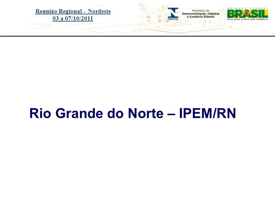 Reunião Regional – Nordeste Rio Grande do Norte – IPEM/RN