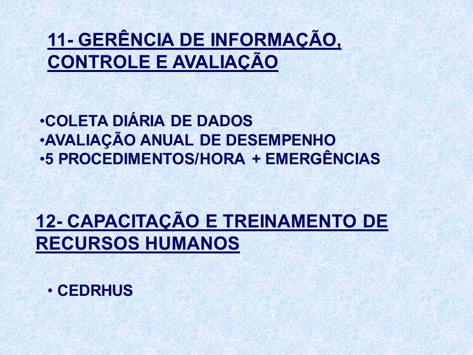 11- GERÊNCIA DE INFORMAÇÃO, CONTROLE E AVALIAÇÃO
