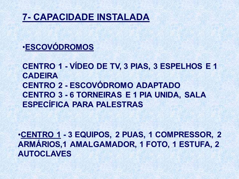 7- CAPACIDADE INSTALADA