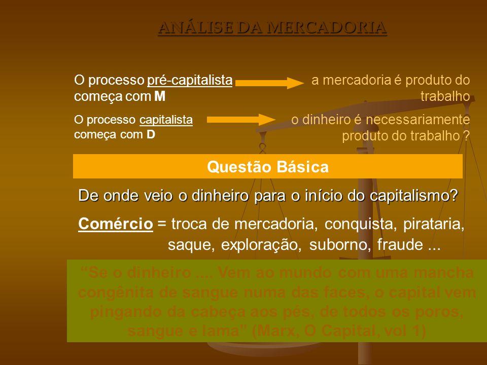 De onde veio o dinheiro para o início do capitalismo