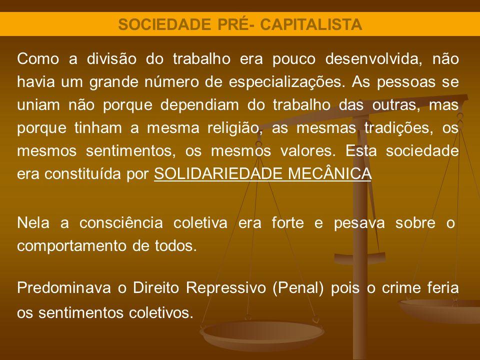 SOCIEDADE PRÉ- CAPITALISTA