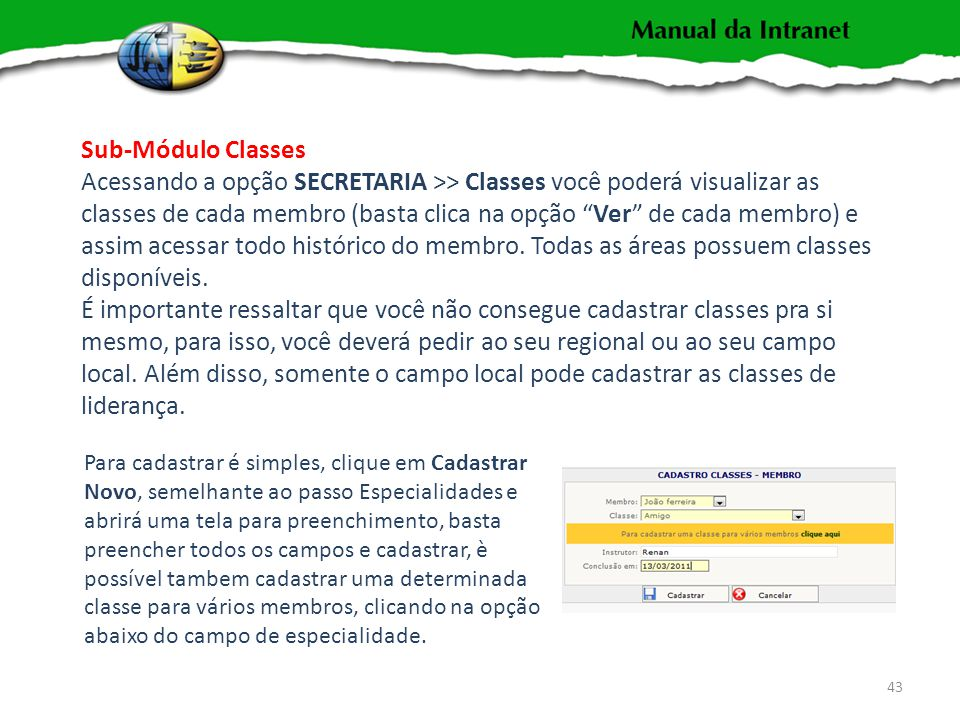 Sub-Módulo Classes