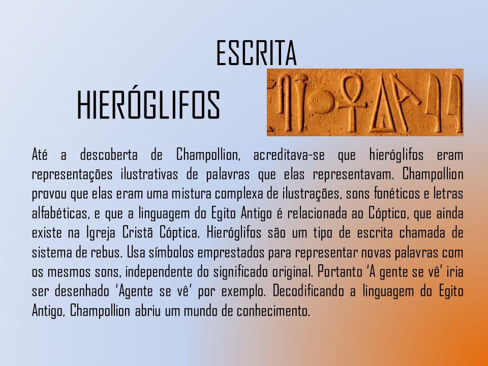 ESCRITA HIERÓGLIFOS.