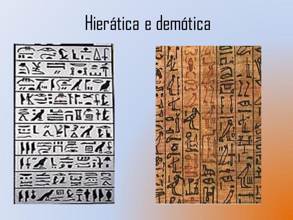 Hierática e demótica