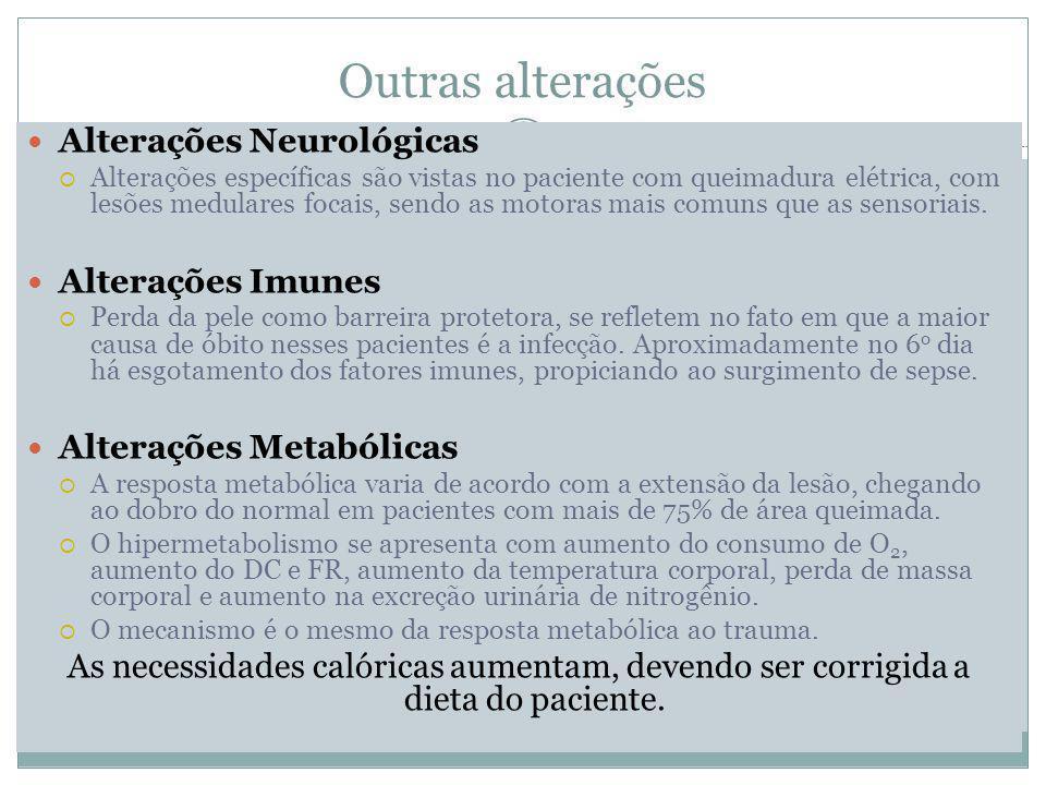 Outras alterações Alterações Neurológicas Alterações Imunes