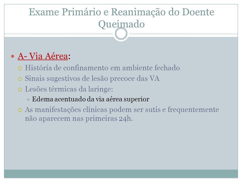 Exame Primário e Reanimação do Doente Queimado