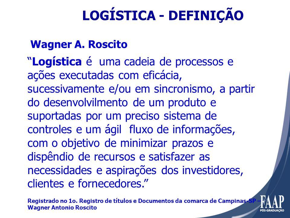 LOGÍSTICA - DEFINIÇÃO Wagner A. Roscito.