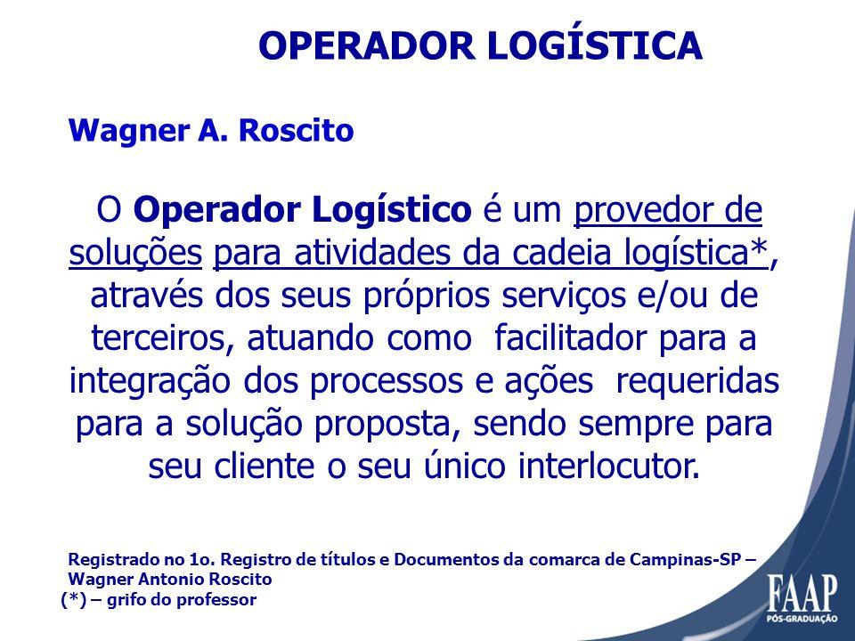 OPERADOR LOGÍSTICA Wagner A. Roscito.