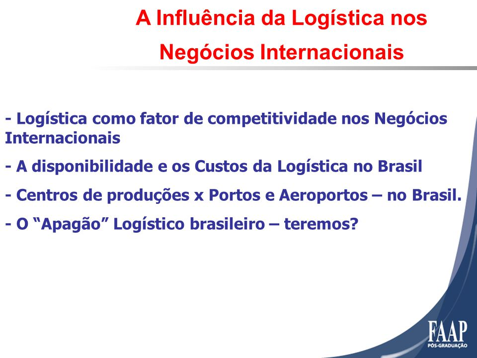 A Influência da Logística nos Negócios Internacionais