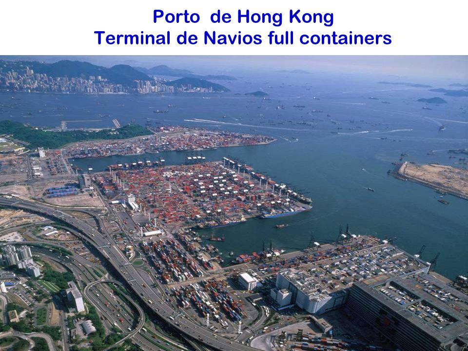 Porto de Hong Kong Terminal de Navios full containers