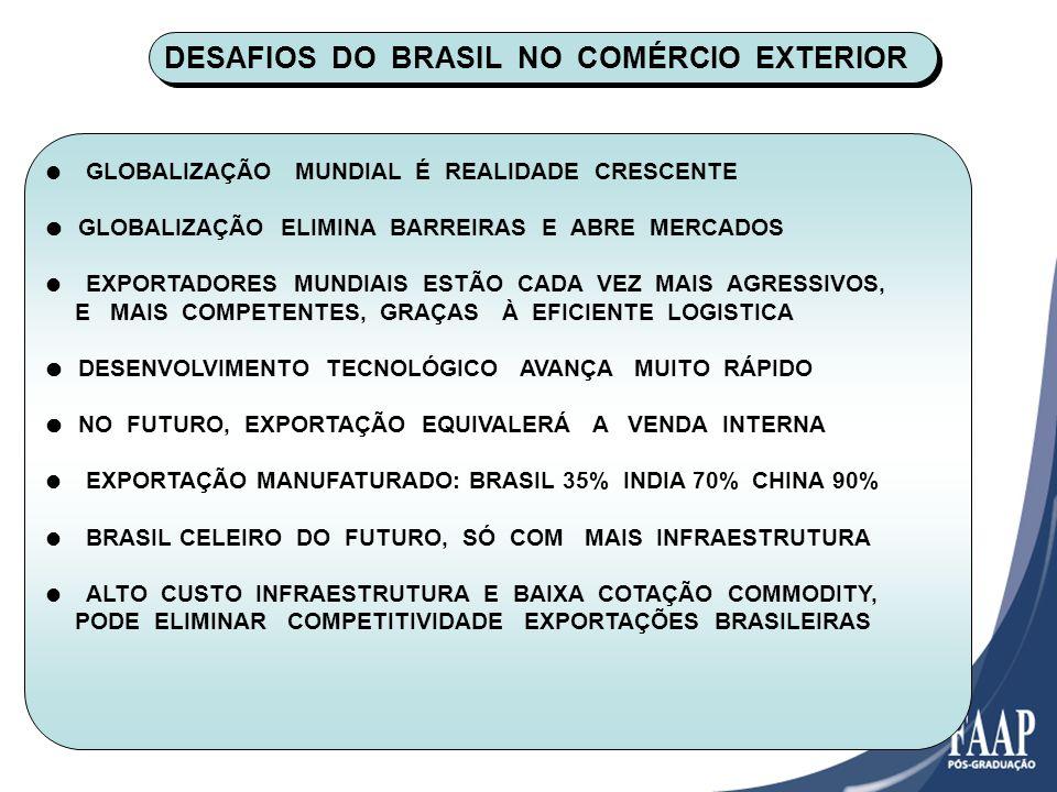DESAFIOS DO BRASIL NO COMÉRCIO EXTERIOR