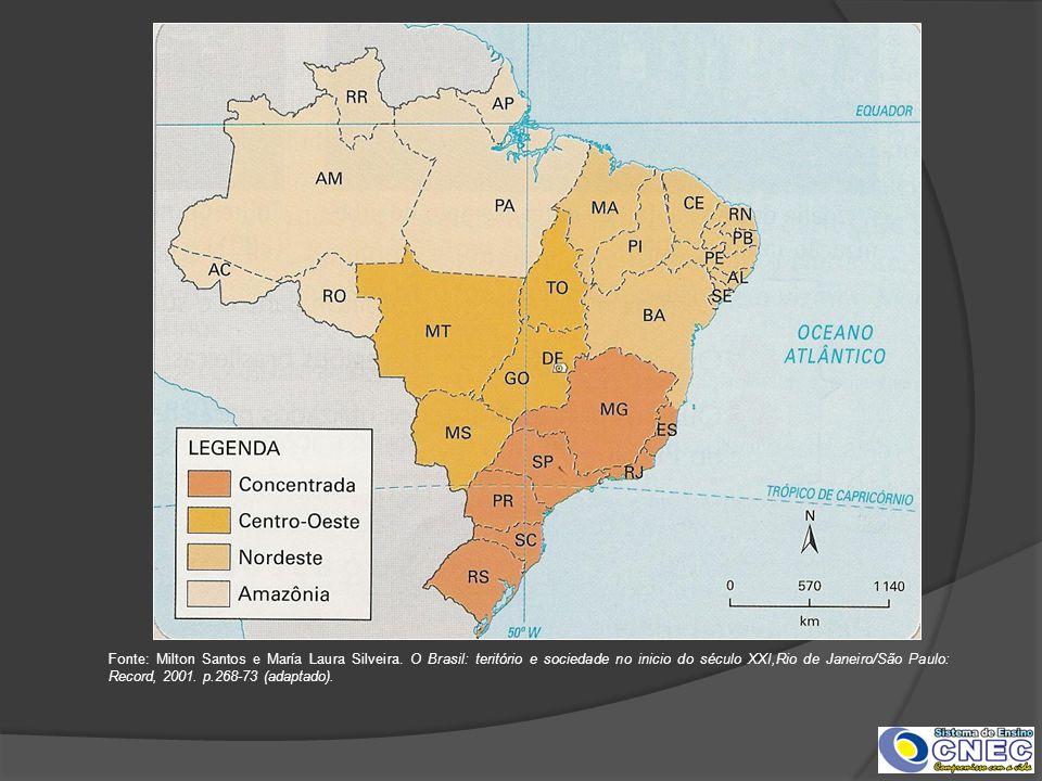 Fonte: Milton Santos e María Laura Silveira