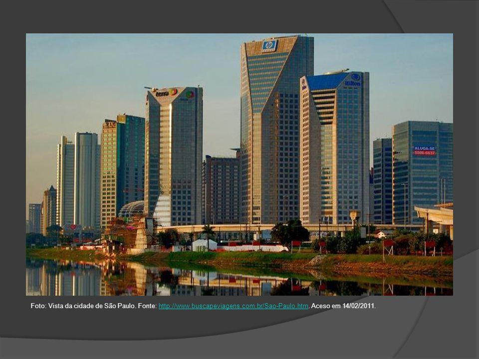 Foto: Vista da cidade de São Paulo. Fonte: http://www. buscapeviagens