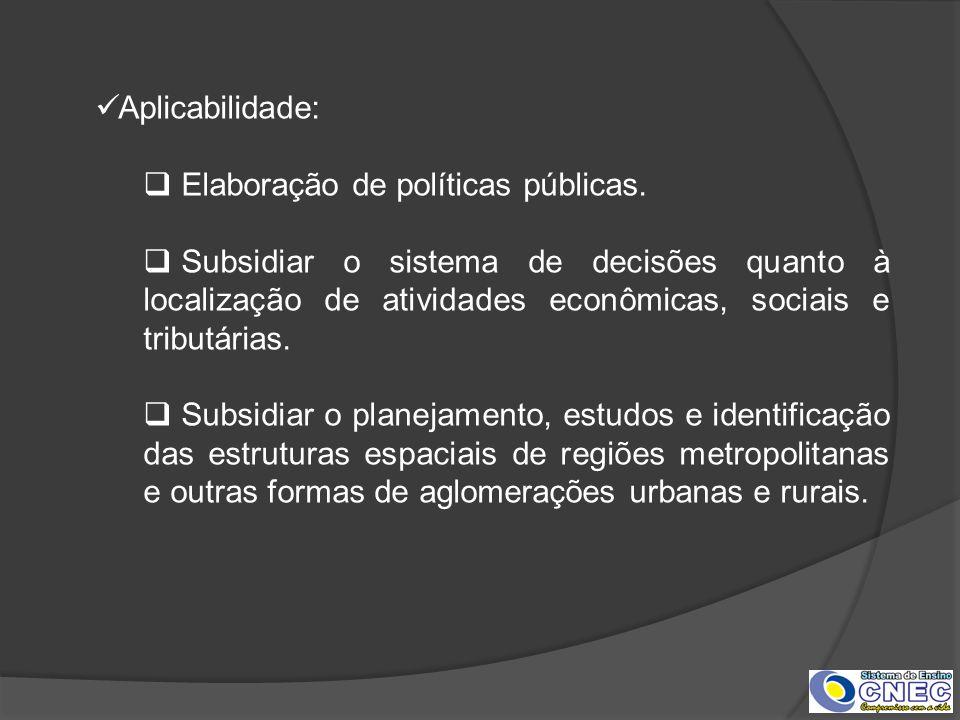 Aplicabilidade: Elaboração de políticas públicas.