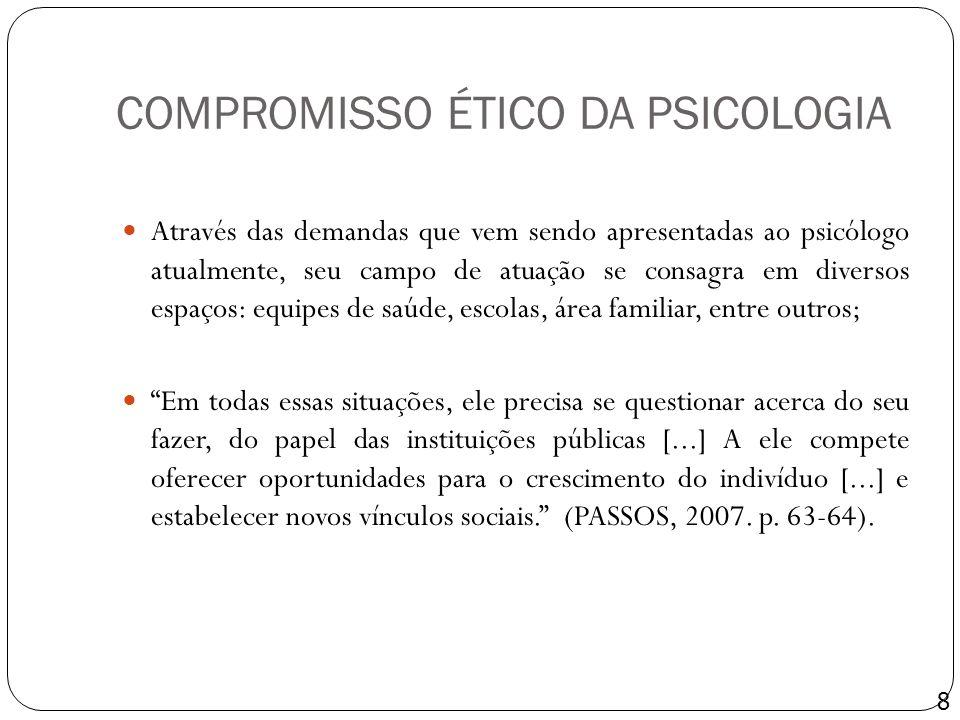 COMPROMISSO ÉTICO DA PSICOLOGIA