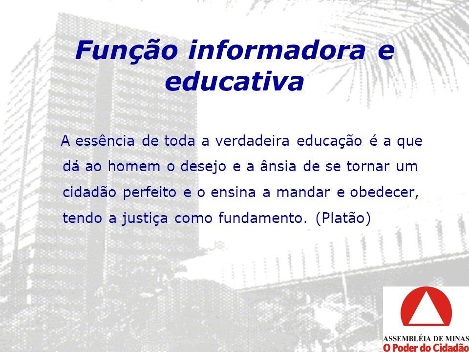 Função informadora e educativa