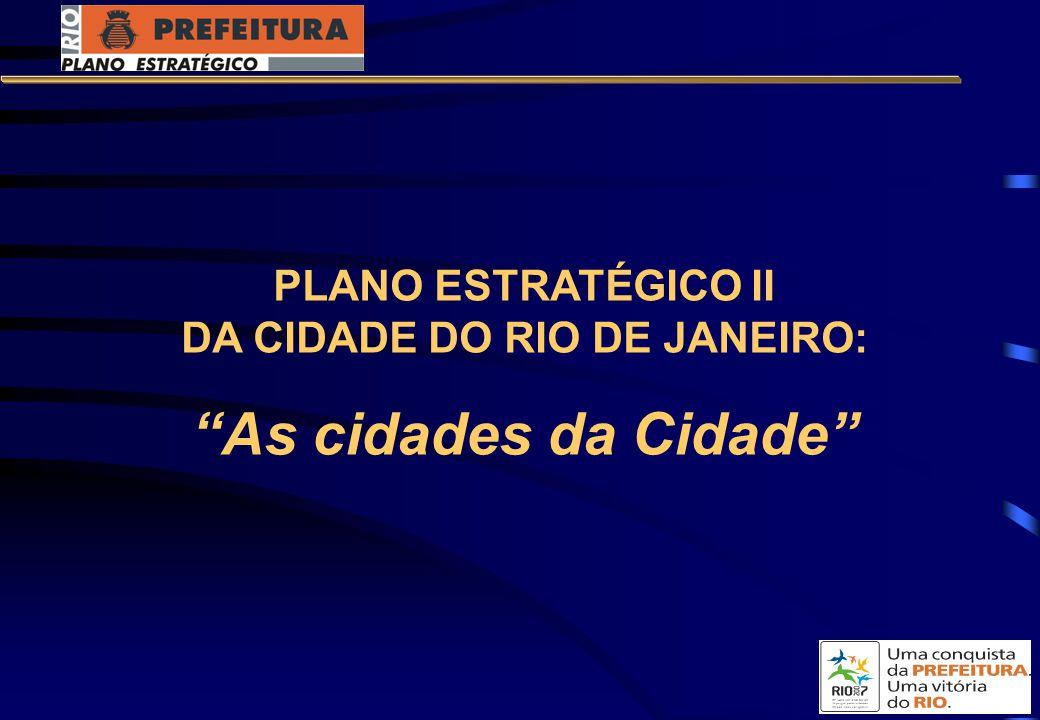 PLANO ESTRATÉGICO II DA CIDADE DO RIO DE JANEIRO: