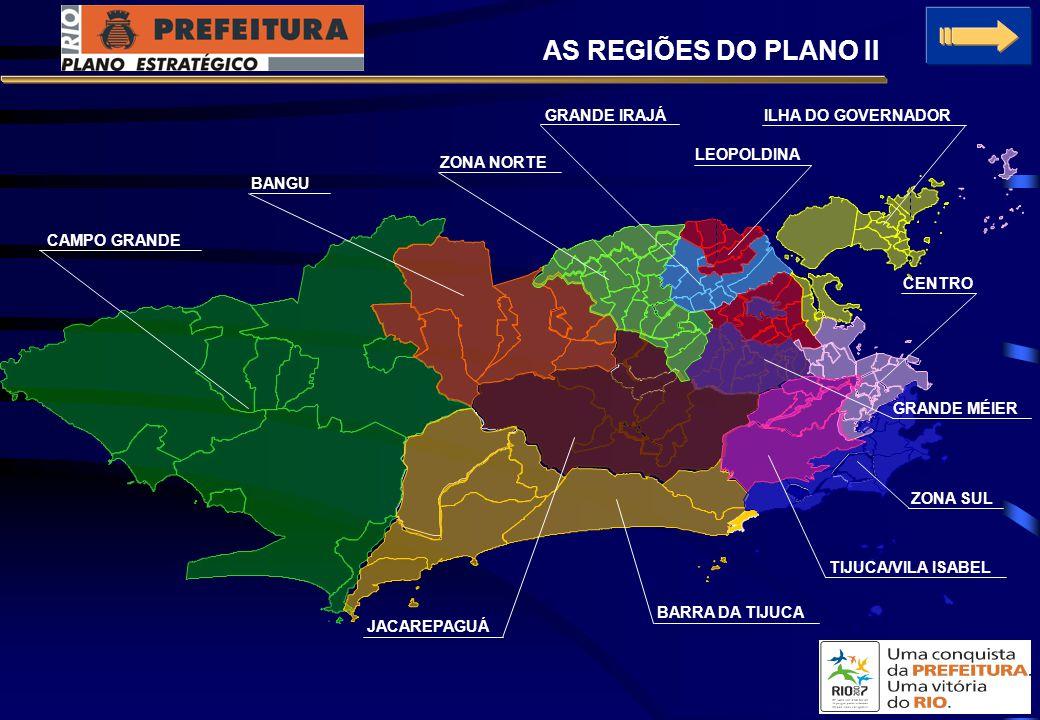 AS REGIÕES DO PLANO II GRANDE IRAJÁ ILHA DO GOVERNADOR LEOPOLDINA