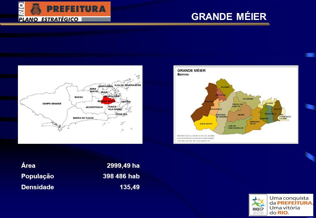 GRANDE MÉIER Área 2999,49 ha População 398 486 hab Densidade 135,49