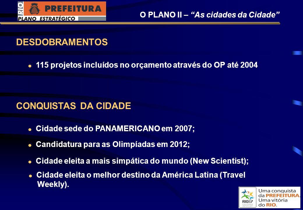 DESDOBRAMENTOS CONQUISTAS DA CIDADE