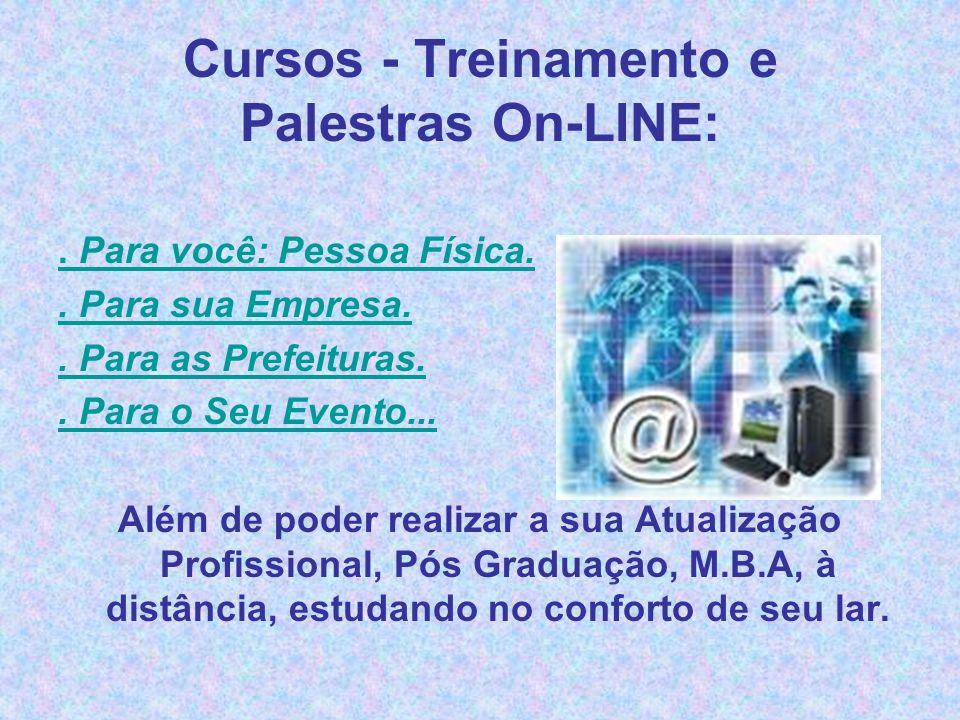 Cursos - Treinamento e Palestras On-LINE:
