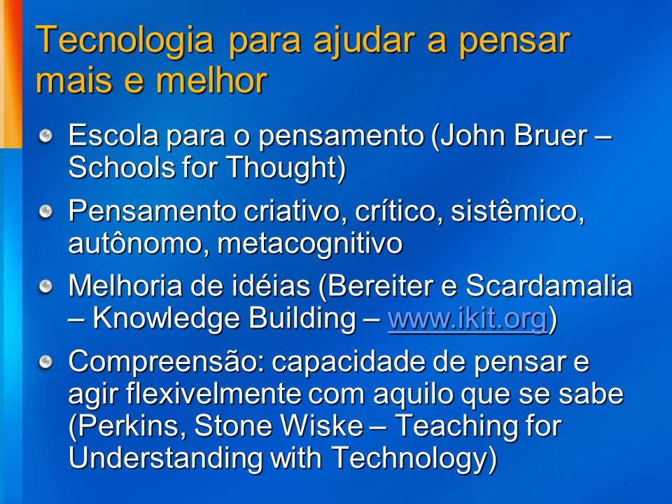 Tecnologia para ajudar a pensar mais e melhor