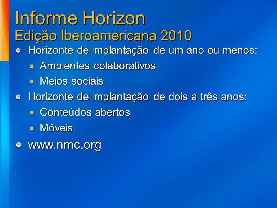 Informe Horizon Edição Iberoamericana 2010