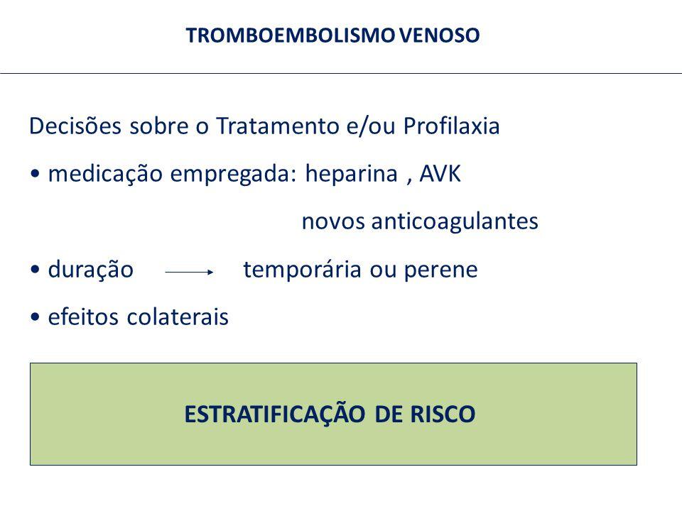 TROMBOEMBOLISMO VENOSO ESTRATIFICAÇÃO DE RISCO