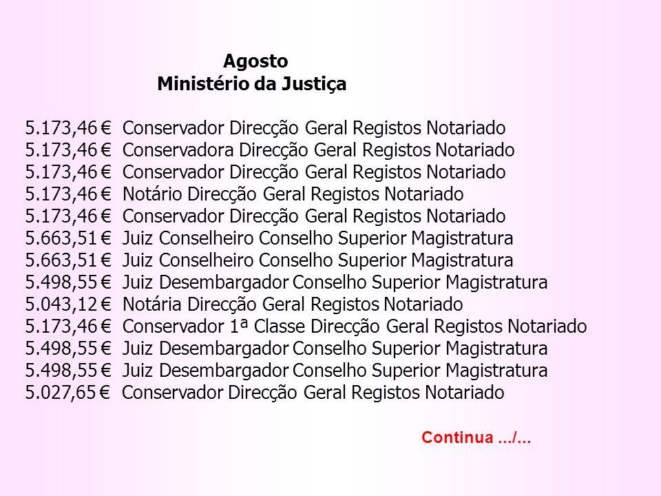 Agosto Ministério da Justiça.