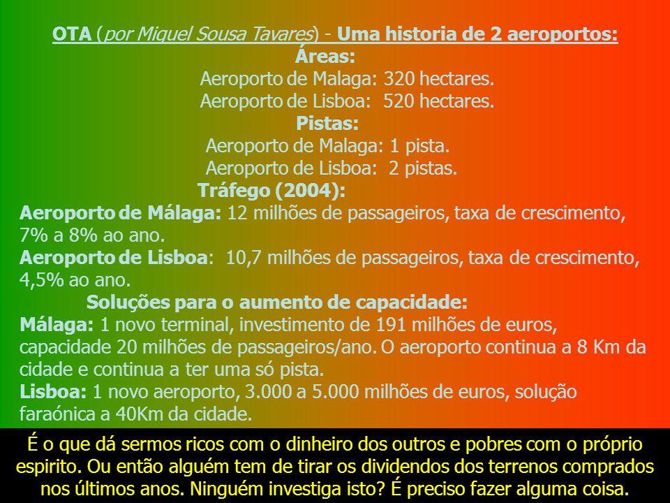 OTA (por Miguel Sousa Tavares) - Uma historia de 2 aeroportos: