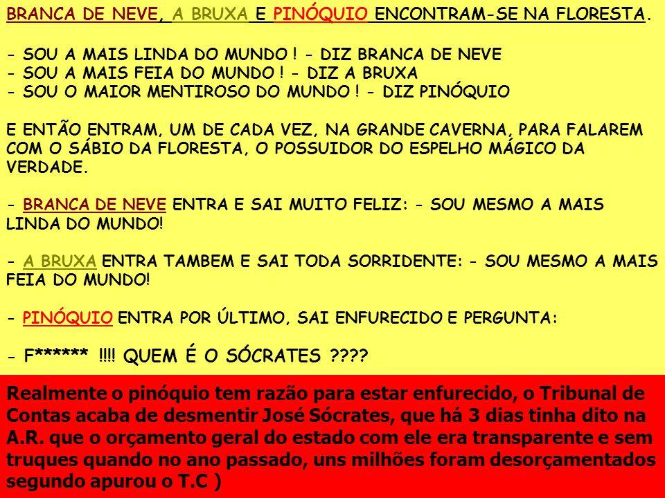 BRANCA DE NEVE, A BRUXA E PINÓQUIO ENCONTRAM-SE NA FLORESTA