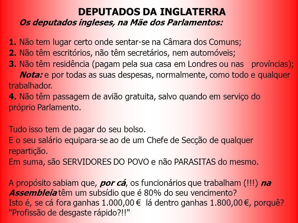 DEPUTADOS DA INGLATERRA
