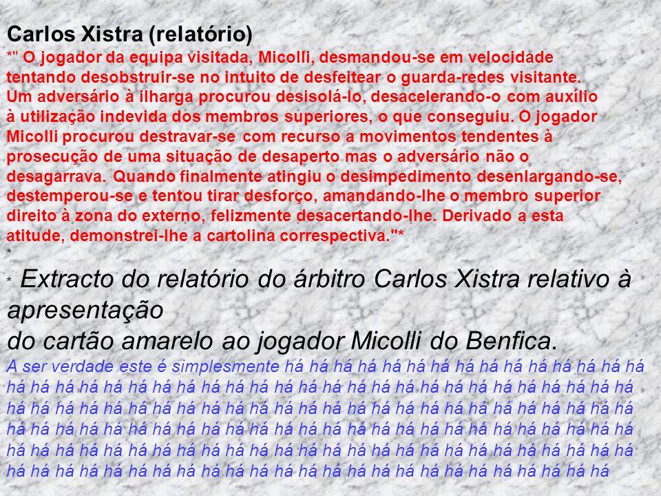 Carlos Xistra (relatório)