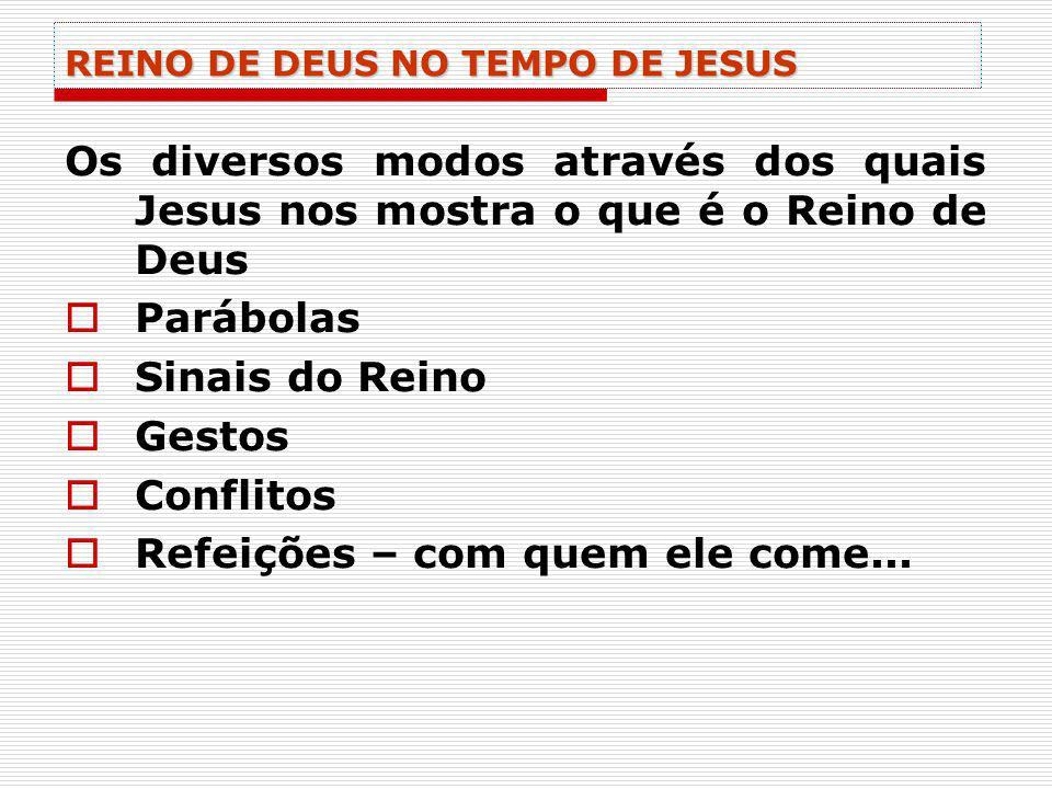 REINO DE DEUS NO TEMPO DE JESUS