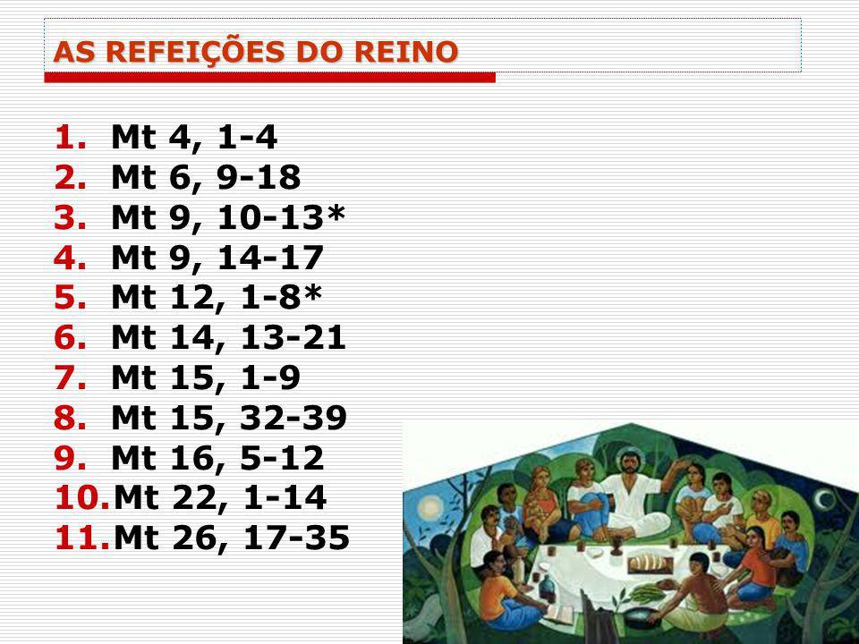 Mt 4, 1-4 Mt 6, 9-18 Mt 9, 10-13* Mt 9, 14-17 Mt 12, 1-8* Mt 14, 13-21