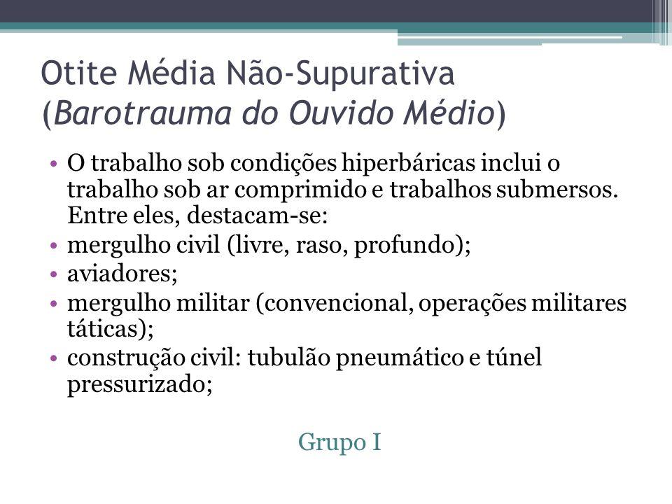 Otite Média Não-Supurativa (Barotrauma do Ouvido Médio)
