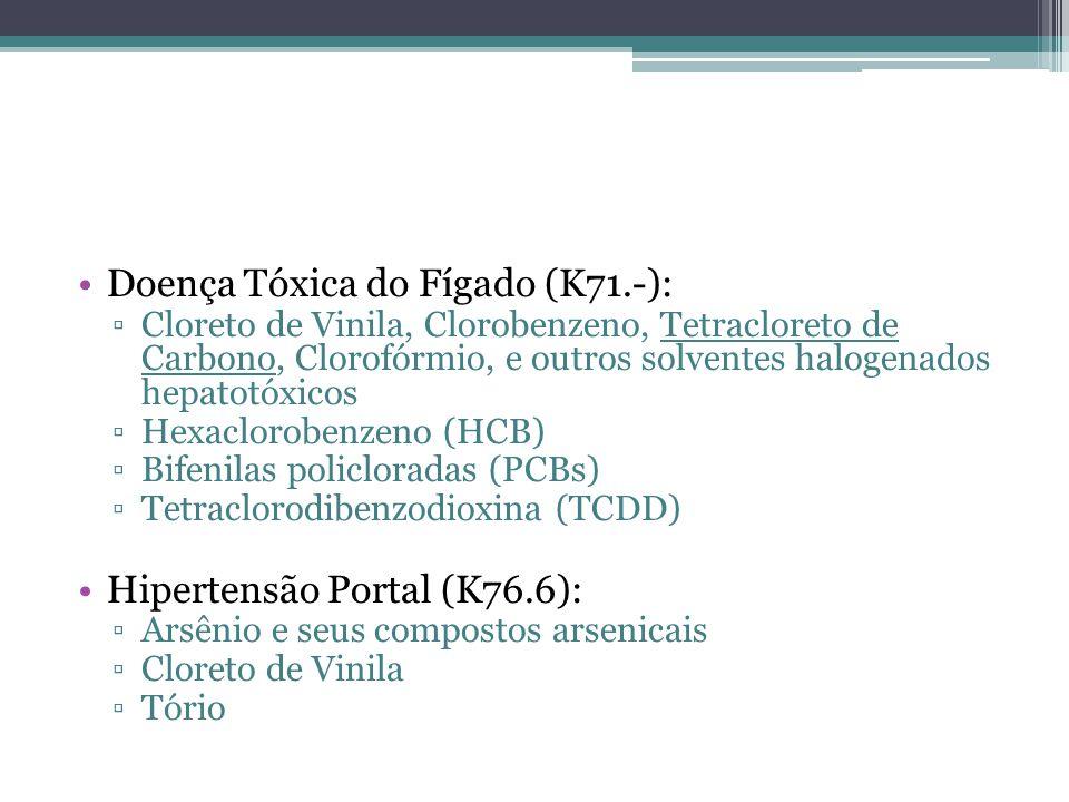 Doença Tóxica do Fígado (K71.-):