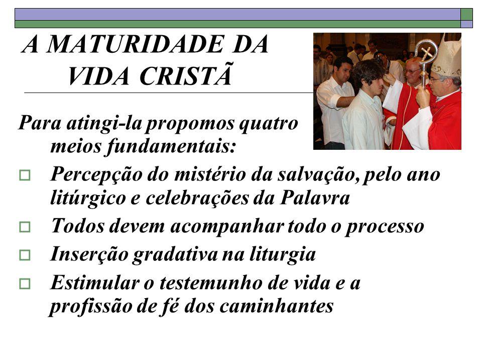 A MATURIDADE DA VIDA CRISTÃ