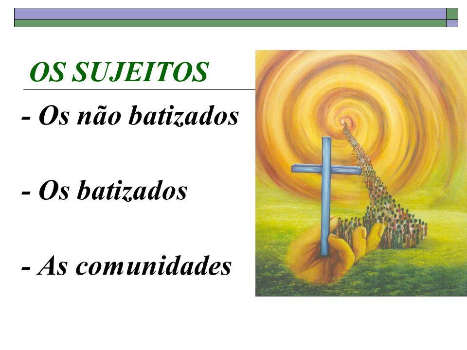 OS SUJEITOS - Os não batizados - Os batizados - As comunidades