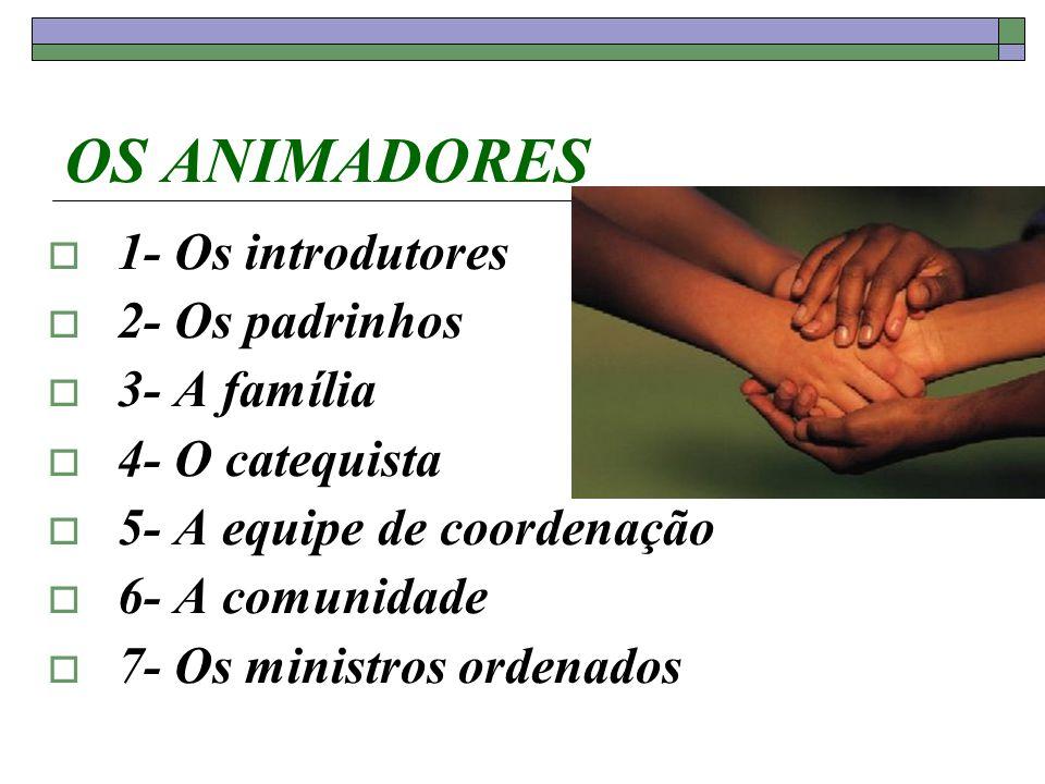 OS ANIMADORES 1- Os introdutores 2- Os padrinhos 3- A família