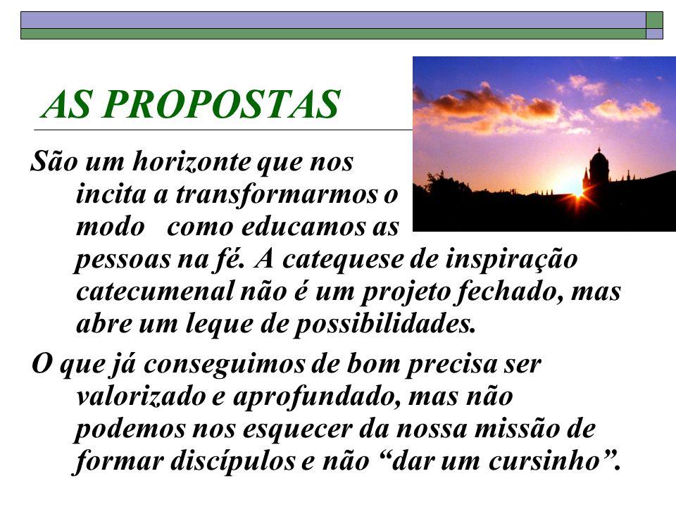 AS PROPOSTAS