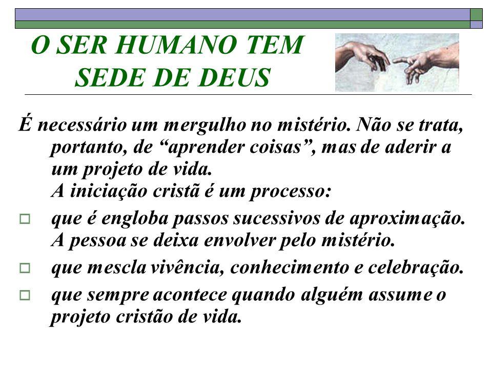 O SER HUMANO TEM SEDE DE DEUS