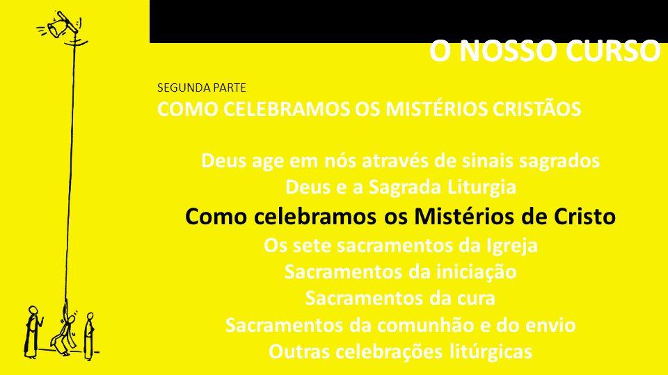 O NOSSO CURSO O NOSSO CURSO Como celebramos os Mistérios de Cristo