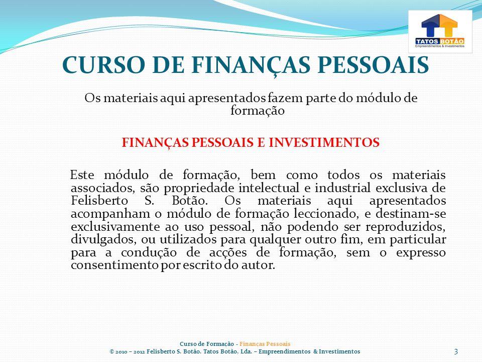CURSO DE FINANÇAS PESSOAIS