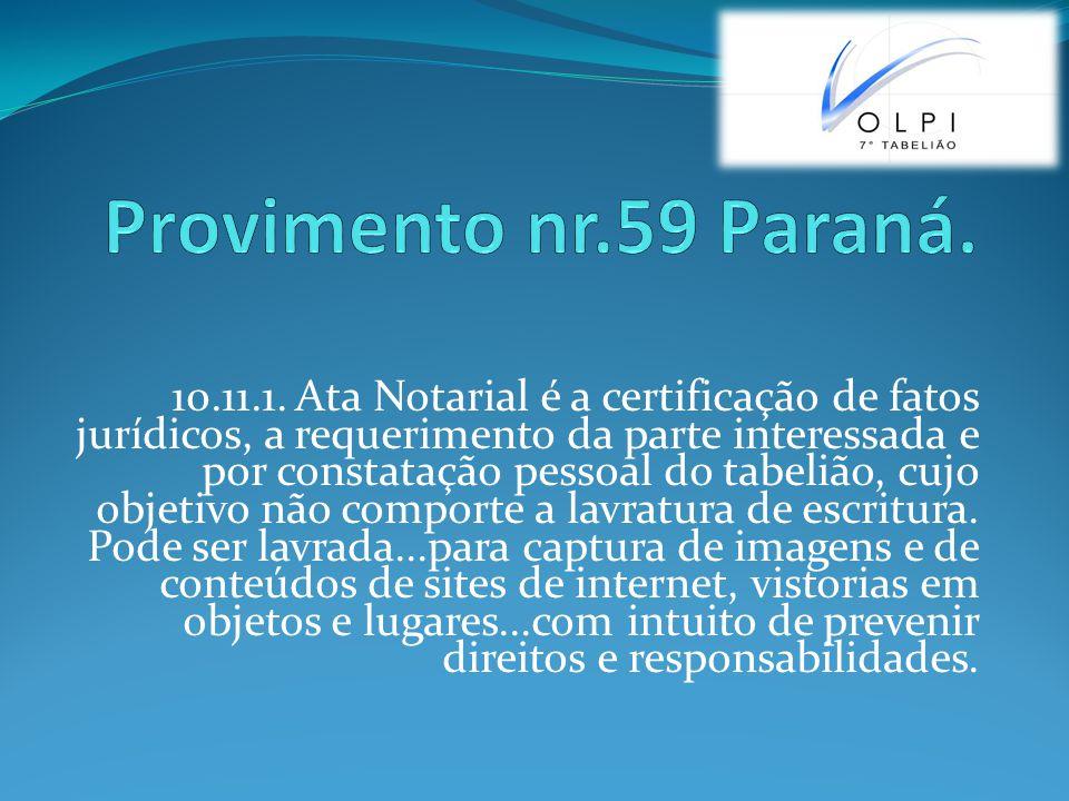 Provimento nr.59 Paraná.